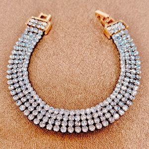 Swarovski Crystal Tennis Bracelet 4 Strand